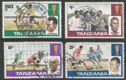 Tanzania. 1978 World Cup Football Championship. Used Complete Set. SG 228-231 - Tanzania (1964-...)