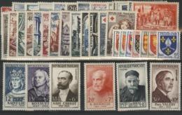 1954 ANNEE COMPLETE ** (MNH). Cote 315 €. N° 968 à 1007 Soit 40 Timbres. TB. - Frankreich