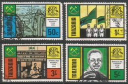 Tanzania. 1978 1st Anniv Of Chama Cha Mapinduzi. Used Complete Set. SG 223-226 - Tanzania (1964-...)