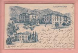 OLD POSTCARD - ITALY -= ARCO - LITHO - PENSION RAINALTER - 1899 - Trento
