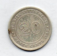 BRITISH INDIA - STRAITS SETTLEMENTS, 20 Cents, Silver, 1886, KM #12 - Indien