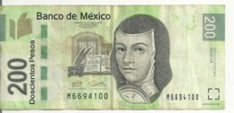 MEXIQUE 200 PESOS 2014 VF P 125 K - Mexico
