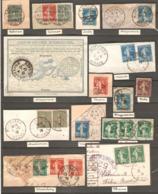 21 Timbres ( France / Divers Oblitération ) - 1903-60 Semeuse Lignée