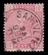 "COB N° 38 - Belle Oblitération S.C. ""DR - SANTVLIET"" - 1869-1883 Léopold II"
