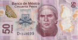 MEXIQUE 50 PESOS 2015 VF P 123A E - Messico