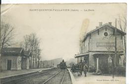 SAINT-QUENTIN-FALLAVIER  (  ISÈRE  )    LA GARE - Autres Communes