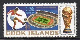 APR2220 - COOK 1974 , Calcio  Yvert  N. 388 ***  MNH (2380A)  Mondiali Football - Cook
