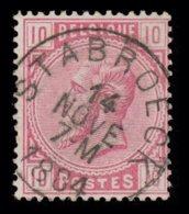 "COB N° 38 - Oblitération ""CONCOURS"" S.C. ""STABROECK"" - 1869-1883 Leopold II"