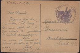 Guerre 14 FM Franchise Cachet Commission Interalliée Contrôle Aéronautique CPA Berlin Unser Del Linden Zeughaus 5 2 20 - Guerre De 1914-18
