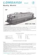 Catalogue LOMBARDI R&C Quality Models Program 1995 Maßstab 0 1:45 - En Français, Allemand Et Anglais - Books And Magazines