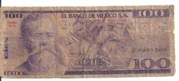 MEXIQUE 100 PESOS 1982 VG P 74 C - Mexico