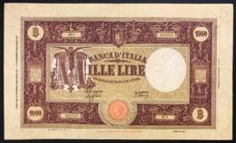 1000 LIRE BARBETTI GRANDE M 06 02 1943 Raro Naturale Q.bb Bei Colori LOTTO 2772 - [ 1] …-1946 : Regno
