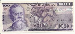 MEXIQUE 100 PESOS 1981 UNC P 74 A - Messico