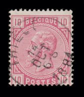 """COB N° 38 - Belle Oblitération S.C. """"THIELT"""" - 1869-1883 Leopold II."""