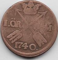 Suède - Ore - 1740 - Suède