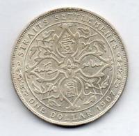 BRITISH INDIA - STRAITS SETTLEMENTS, 1 Dollar, Silver, 1907, KM #26 - Indien