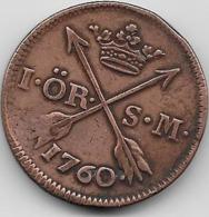 Suède - Ore - 1760 - Suède