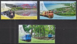 Taiwan 2015 S#4268-4270 Railway Tourism MNH Train Bridge Bicycle - Unused Stamps