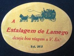 HOTEL PENSAO RESIDENCIAL ESTALAGEM LAMEGO TAG DECAL STICKER LUGGAGE LABEL ETIQUETTE AUFKLEBER PORTUGAL - Hotel Labels