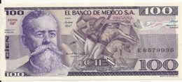 MEXIQUE 100 PESOS 1981 UNC P 74 A - Mexico