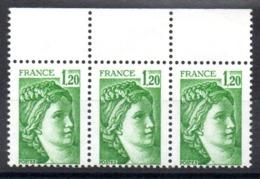 FRANCE - YT N° 2101a X3 - Neufs ** - Cote: 30,00 € - 1977-81 Sabine De Gandon