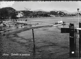 PIEMONTE - ARONA - BATTELLO IN PARTENZA - VIAGGIATA 1957 DA MERCURAGO/NOVARA (ANNULLO CONALBI) - Altre Città