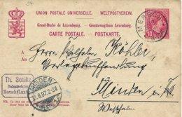 Carte Correspondance - Korrespondenzkarte - Entier Postal - Stationery - No. 54 Mersch Nach Minden 1897 - Interi Postali