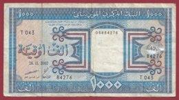 Mauritanie 1000 Ouguiya Du 28/11/2002 Dans L 'état (TRES FORTE COTE EN UNC) - Mauritania
