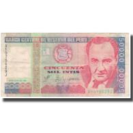 Billet, Pérou, 50,000 Intis, 1988, 1988-06-28, KM:142, TB - Peru