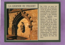 29 LE FOLGOET  LA LEGENDE DU FOLGOET  La Fontaine Sacrée  Située Au Chevet De La Basilique - Sonstige Gemeinden