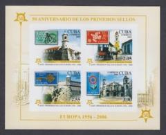 50 ANIVERSARIO DE LOS PRIMEROS SELLOS DE EUROPA. CUBA. EDIFIL 5131 S/d. 2005 MNH - Nuevos