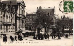 FR54 NANCY - LL 37 - Place Saint Jean Et Temple Protestant - Animée - Belle - Nancy