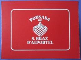 HOTEL PENSAO RESIDENCIA PENSION STALAGEM Pousada Braz Alportel STICKER DECAL LUGGAGE LABEL ETIQUETTE AUFKLEBER PORTUGAL - Hotel Labels
