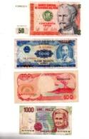 Lot 10-Lot De 7 Billets, Différents Pays, Différents états, Voir Scan - Non Classés