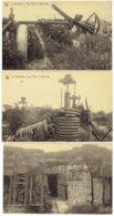 La Minoterie Et Les Abris à Dixmude - 1914-18 - Ruines Molen In Diksmuide - 3 Postkaarten - Diksmuide