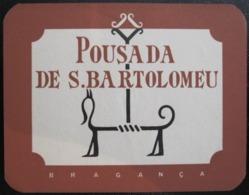 HOTEL PENSAO RESIDENCIAL PENSION BARTOLOMEU BRAGANCA TAG DECAL STICKER LUGGAGE LABEL ETIQUETTE AUFKLEBER PORTUGAL - Etiketten Van Hotels