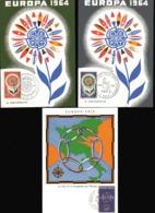 FRANCE  EUROPA 1959 N° 1219  2 Cartes 1964 N° 1430 Et 1431 - 1959
