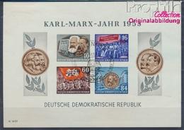 DDR Block9B Ersttagssonderstempel Gestempelt 1953 Karl-Marx-Jahr (8358096 - [6] Oost-Duitsland