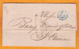1837 - Lettre Avec Correspondance De Paris Vers Saint Etienne, Loire - Taxe 16 - Cachet à Date D'arrivée - Marcofilia (sobres)