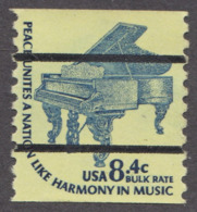 USA 1978. Scott 1615d. 8.4c Bureau Precanceled. Coil , Steinway Grand Piano. MNH - Neufs