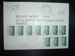 LR Par Avion Pour La FRANCE TP ARTA POPULARA 3L50 Bande De 7 + Bande De 3 OBL.11.6.86 BUCURESTI 23 - Cartas