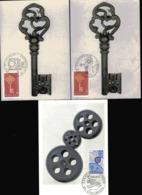 FRANCE  EUROPA 1968 N° 1556  2 Cartes Avec Cachet Paris Et Strasbourg  1967 N° 1521 Cachet Strasbourg - Europa-CEPT