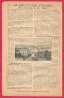 Industrie. Les Crayons A W Faber, Recto. Le Plus Grand Miroir Du Monde Exposition 1900. Saint Gobain, Verso. 1901. - Documents Historiques
