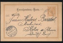 AUTRICHE  - CORRESPONDENS KARTE  2 KREUZER - 1850-1918 Imperium