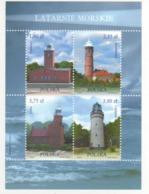 Polonia Poland Polska 2013 Sheet Fari PHARES - LEUCHTURME - LIGHTHOUSES - Headlights MNH - Lighthouses