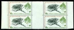 TAAF 1980 Shiny Cape Myrtle,Flowers,Plants,Trees,Amsterdam Isl,Mi.147,Bl. X4,MNH - Trees