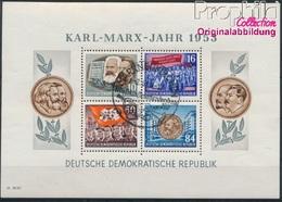 DDR Block9A Gestempelt 1953 Karl-Marx-Jahr (8940637 - [6] Oost-Duitsland