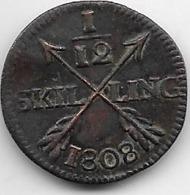 Suède - 1/12 Skilling 1808 - Sweden