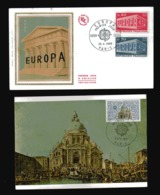 FRANCE  EUROPA 1969 N° 1598 Et 99 ET  Carte Avec Cachet Paris  1971 N° 1676 - Europa-CEPT