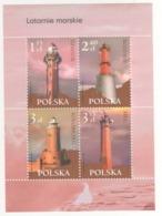 Polonia Poland Polska 2007 Sheet Fari PHARES - LEUCHTURME - LIGHTHOUSES - Headlights MNH - Fari